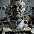 Tamura sensei - buste argile - etude en cours - v3 - clay : study v3