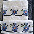 bandes pour serviette et drap de bain aux liserons
