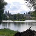 La Cathédrale d'Orléans depuis l'Ile Charlemagne