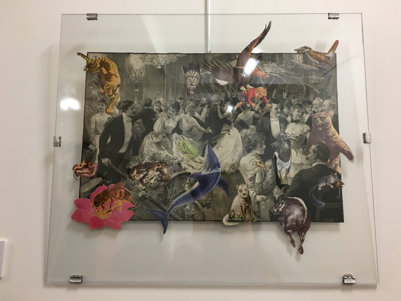 Collages de Françoise Guichard (bal interrompus par des animaux)
