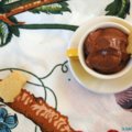 Mousse soyeuse au chocolat, sans blé, sans lait sans oeuf