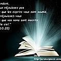 <b>Luc</b> <b>10</b>:20 (Versets d'Or Pur - 23-43)