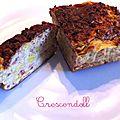 • cake de régime moelleux aux poireaux et