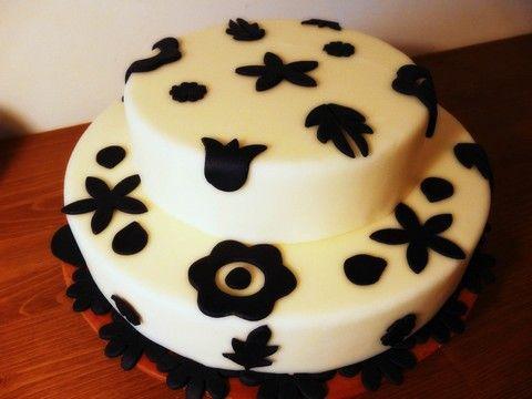 Gâteau Noir et blanc 2