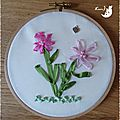 Tambour bouquet fleurs Maman 1