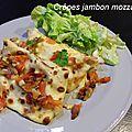 Crêpes jambon mazzarella