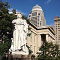 La statue de Louis <b>XVI</b> à Louisville, États-Unis