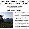 Appel à bénévoles - fouilles archéologique Notre-Dame de Brissan (Occitanie) - 24 mai-12 juin 2021
