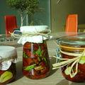 Tomates séchées à l'huile d'olive, ail thym, romarin