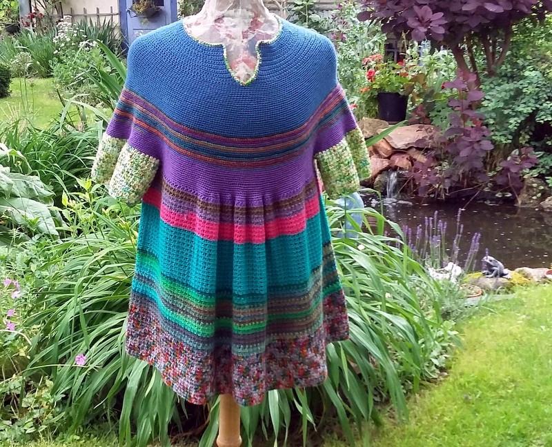 blouse au crochet années 70