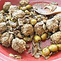 Tajine de boulettes de viandes aux olives