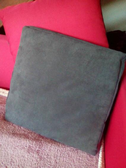 housse coussin gris par Christine