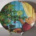 Assiette decorative ourson noel / Chistmas Bear decorative plate