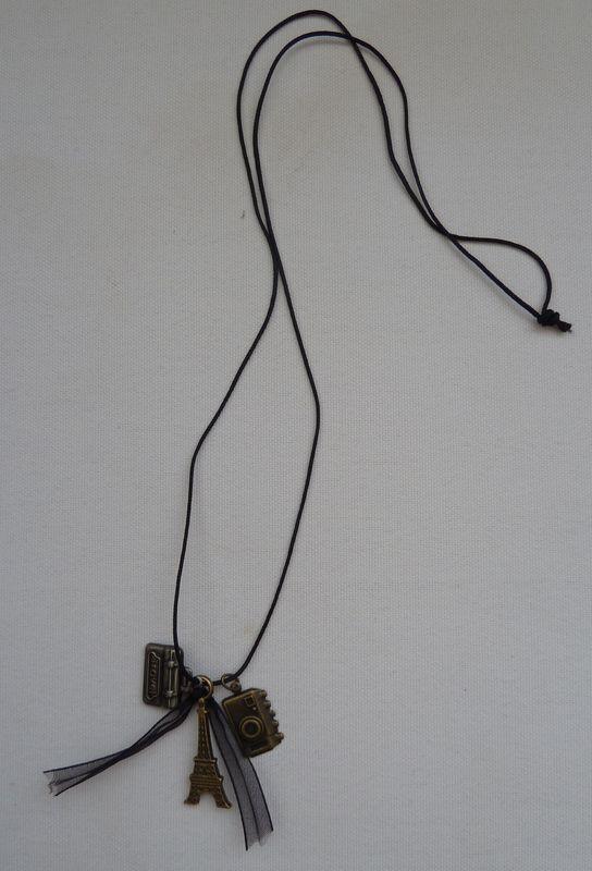 Collier sautoir Breloques Bronze PARIS