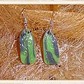 Boucles d'oreille verte