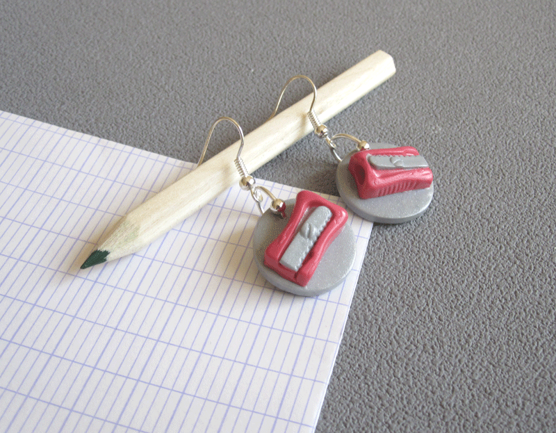 boucles taille crayon corail