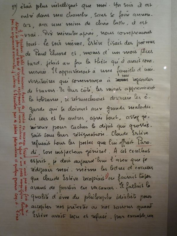 Manuscrit de Joe Bousquet