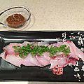 Mulet à la sauce miso vinaigré (sumiso)