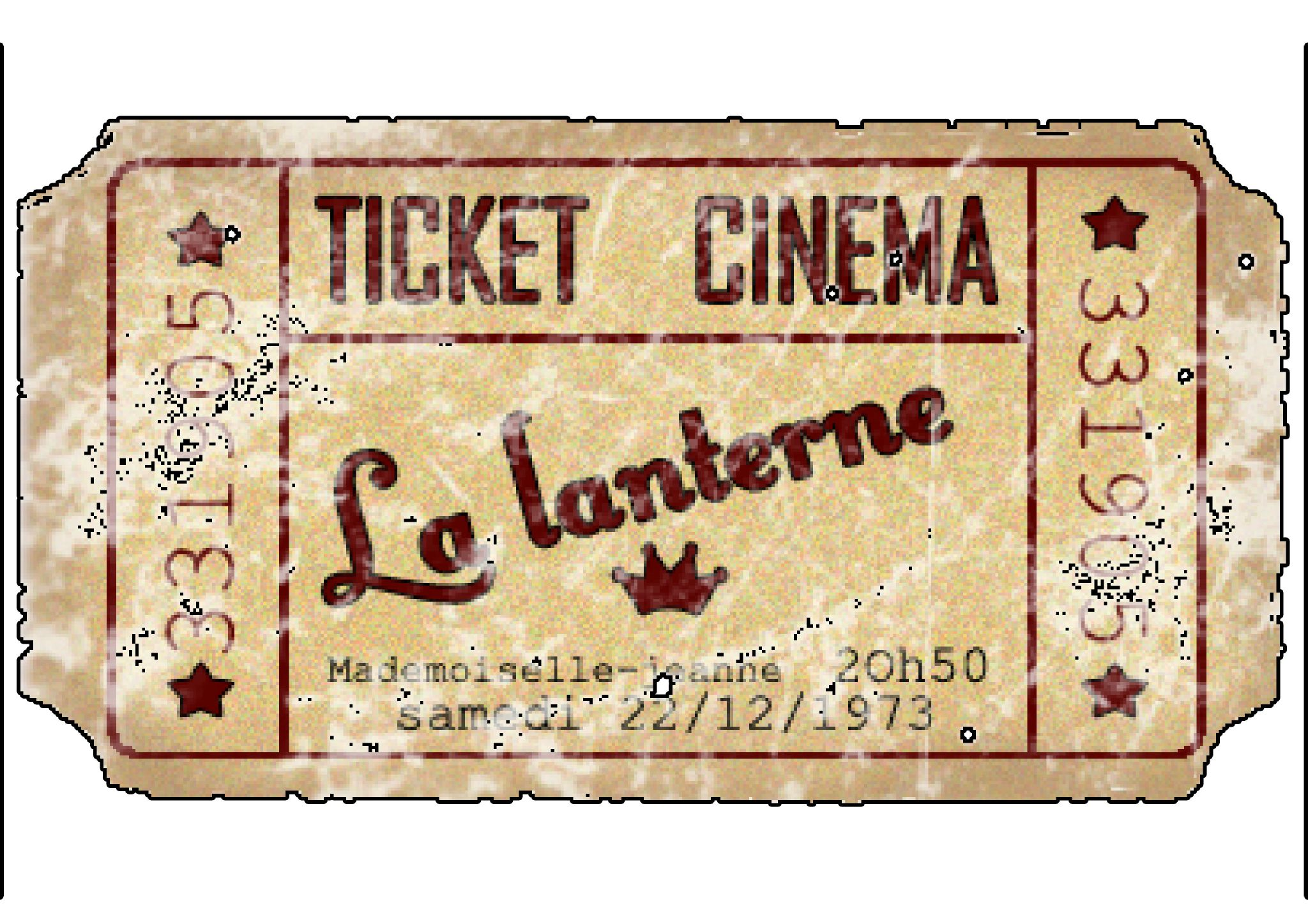 ticket de cinema