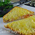 Croque saumon