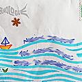Enveloppes: toute petite sirène, et naïades