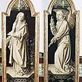 École flamande du xvie siècle, la vierge et saint jean-baptiste