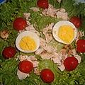 Salade de poulet froid