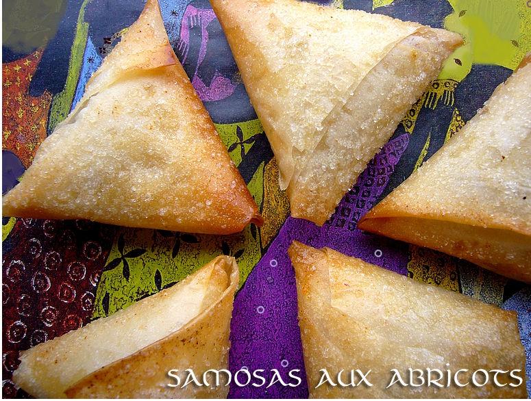 Samosas aux abricots