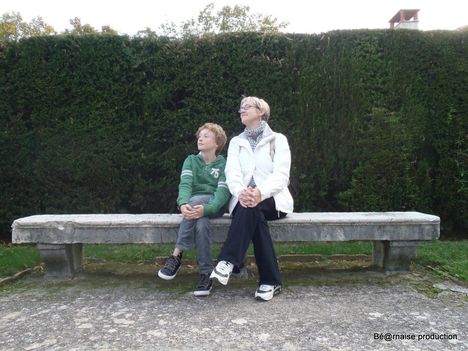 Banc et haie (Nice, octobre 2011)