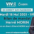 Mardi 18 mai 2021 19heures: Adresse d'Hervé MORIN aux Normands
