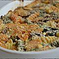 Gratin coloré aux pâtes, aux légumes et à la ricotta (végétarien)