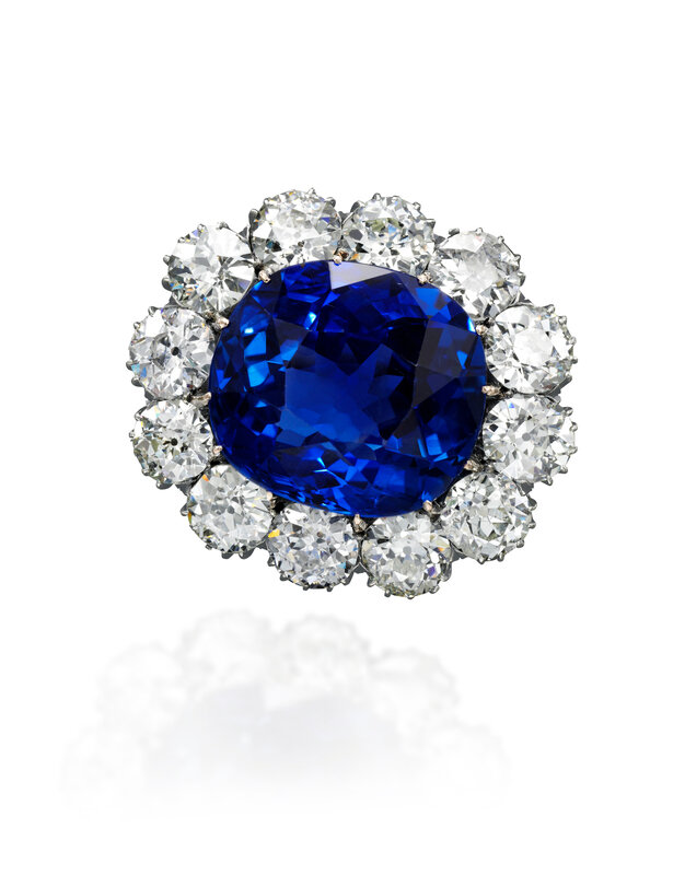Sapphire and diamond brooch - Royal Jewels from the Bourbon Parma Family - Sotheby's November 2018