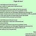 Paul celan, poésie.