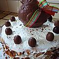 Gâteau de pâques aux framboises