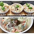 Salade piémontaise allégée ( 475 cal/ par personne)