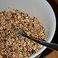 Du granola pour mon petit déjeuner