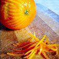Cake à l'orange et aux raisins blonds