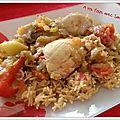 Poulet à la basquaise et son riz