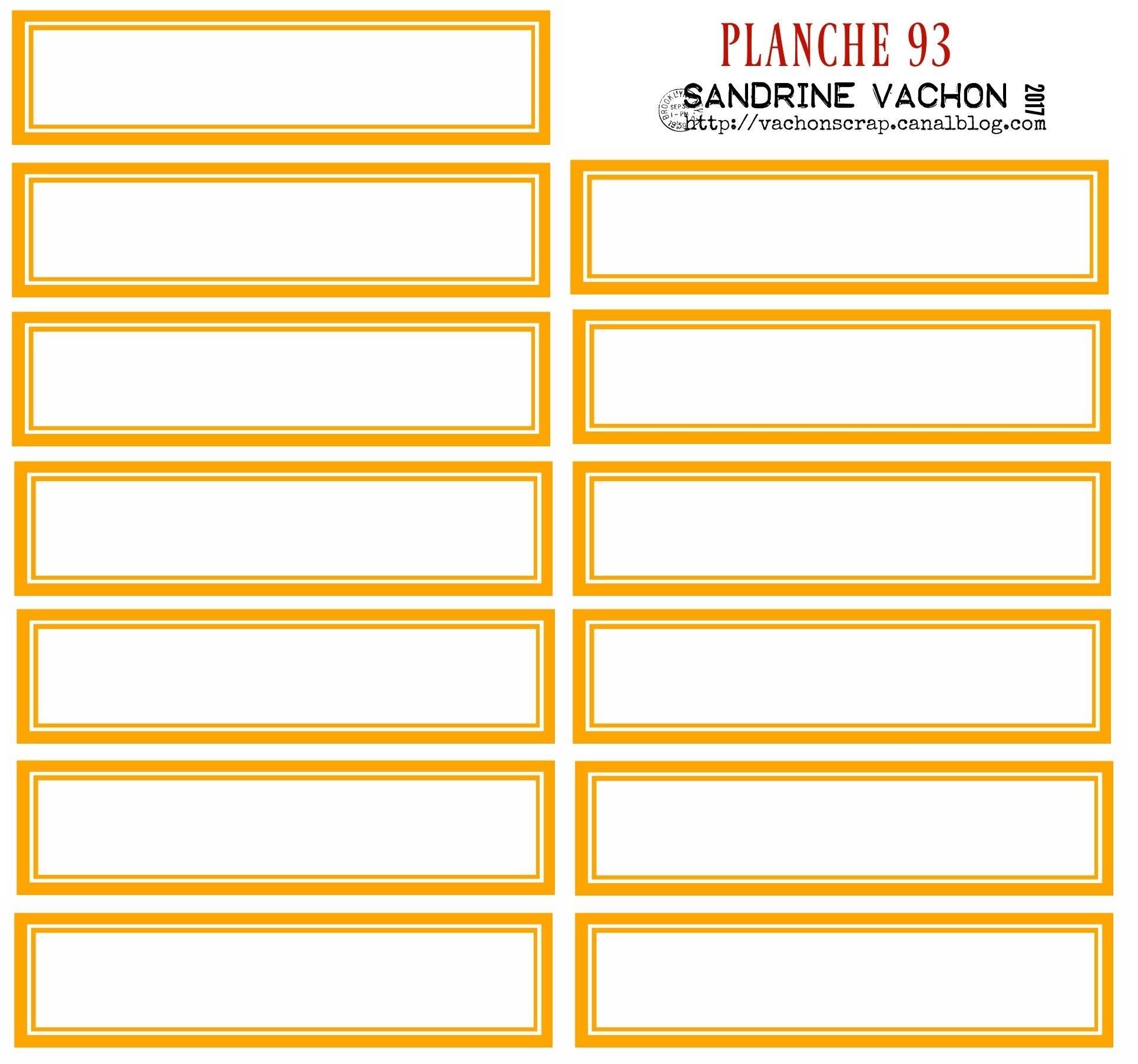 PLANCHE 93 ORANGE