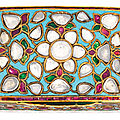 A gem set and enamelled <b>gold</b> <b>box</b>, North India, circa 1675-1725