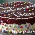 Framboisier au chocolat blanc en version gâteau d'anniversaire pour enfant
