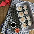 Makis sushis à la menthe et la coriandre