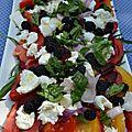 Salade de tomates, mozzarella et mures