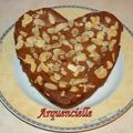 Gâteau coeur chocolat amandes
