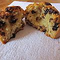 Muffin aux pépites de chocolat et noisettes