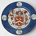 Two Chinese porcelain armorial dishes