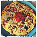 Omelette aux poivrons rouges, naturellement sans gluten et sans lactose