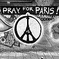 Street Art : <b>Pray</b> <b>for</b> <b>Paris</b>