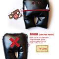 Bigoo (simili cuir, rouge et noir)