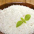 Les calories dans le <b>riz</b> cuit